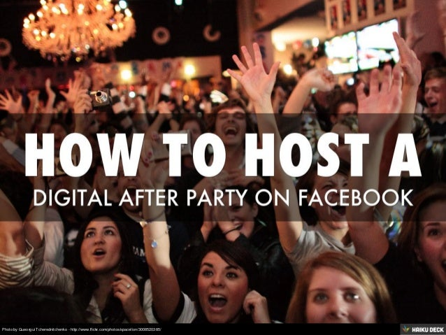 How To Host a Digital After Party on Facebook