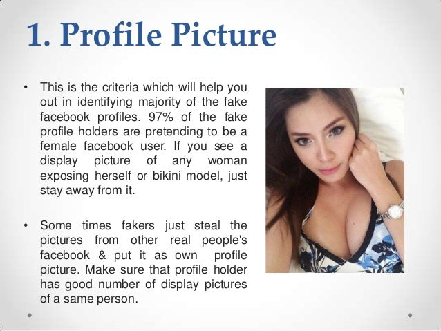 how to tell if someone has a fake dating profile
