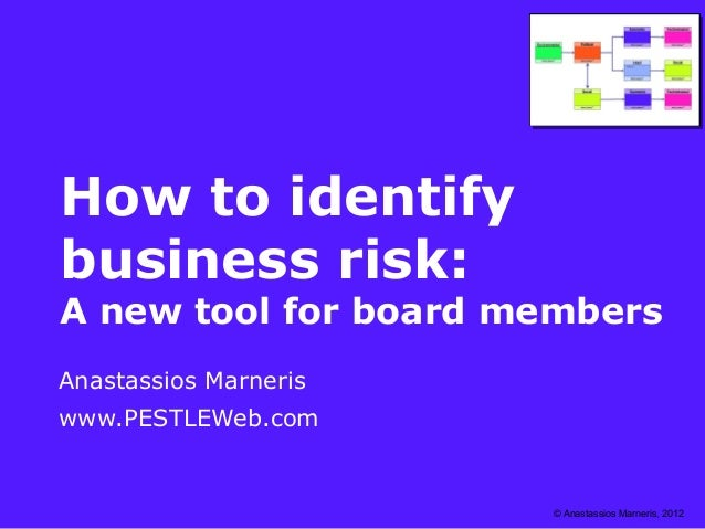 How to identify business risk - A new tool for board members