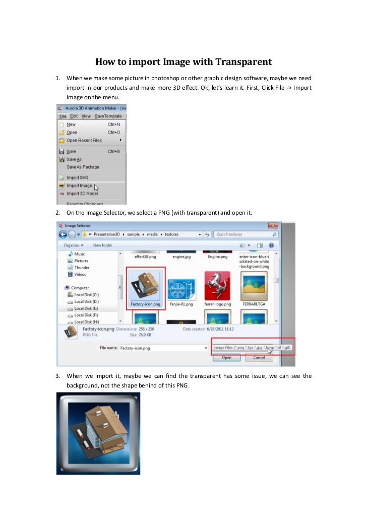 How to import image with transparent