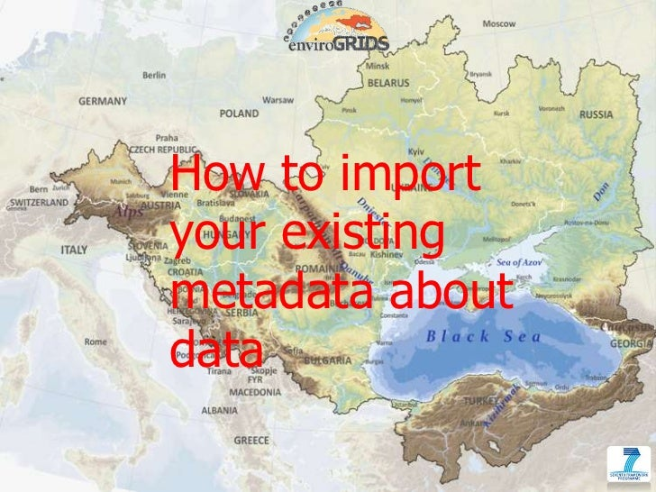 How to import your existing metadata about data<br />