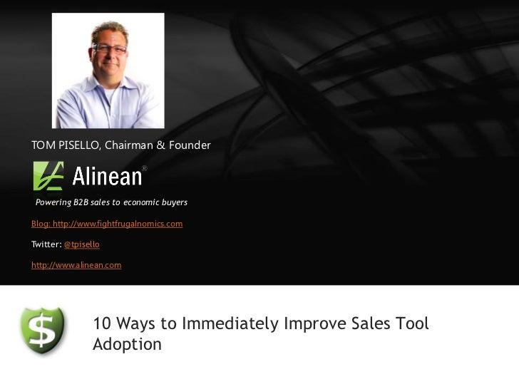Webcast: How to improve sales tool adoption