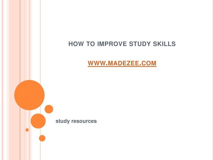 How to improve_study_skills