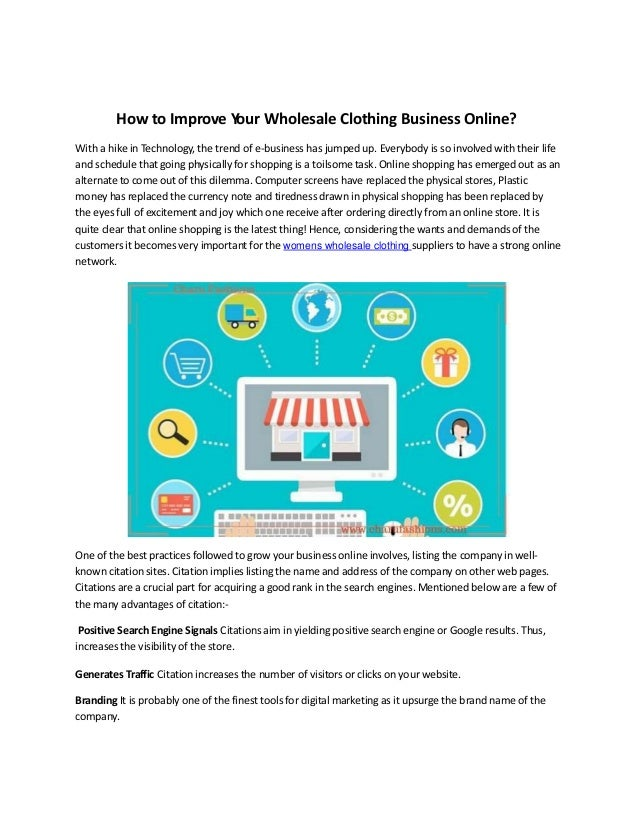 How to sell wholesale clothing online