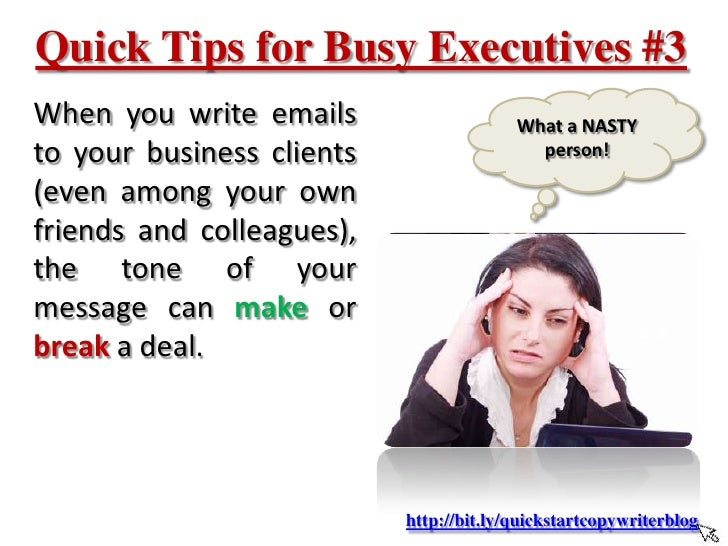 tips for writing business emails