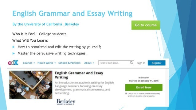 Improving essay writing skills?