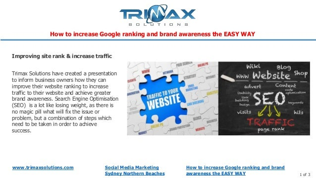 www.trimaxsolutions.com Social Media MarketingSydney Northern Beaches 1 of 3Trimax Solutions have created a presentationto...