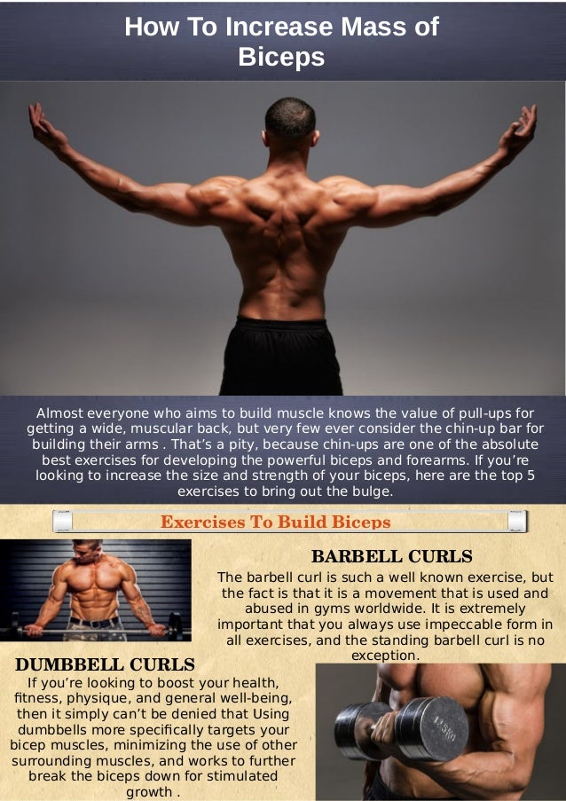 Increase muscle ups