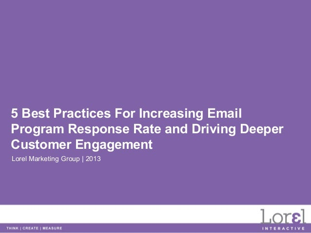 How to Increase Your 2013 Email Response Rates in 5 Simple Steps