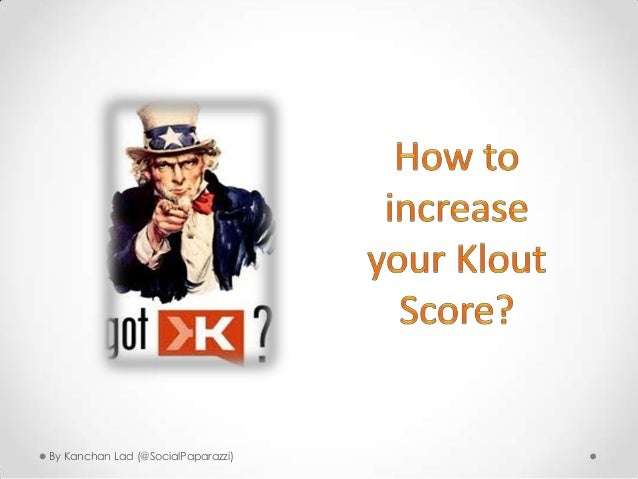 How to increase your Klout Score