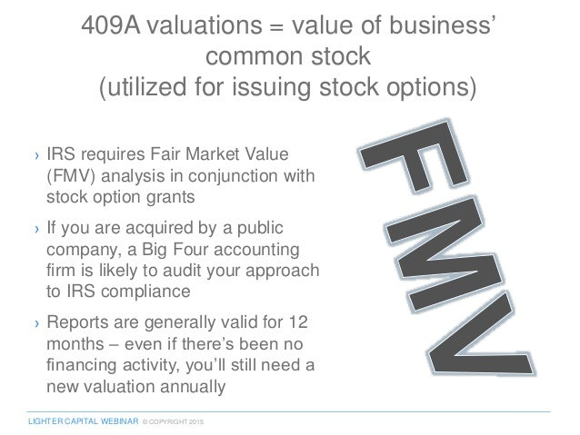 Stock options 409a