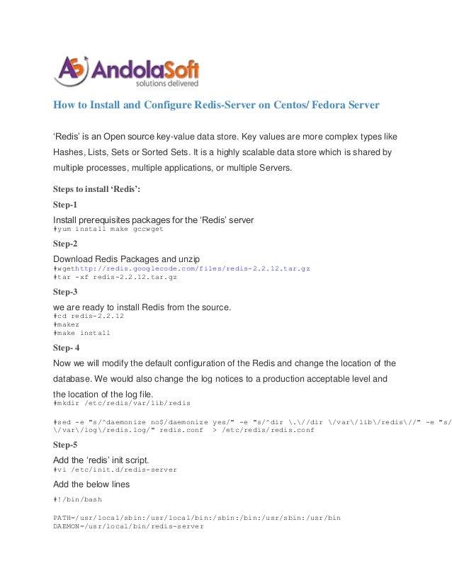 How to install and configure redis server on Centos/Fedora server