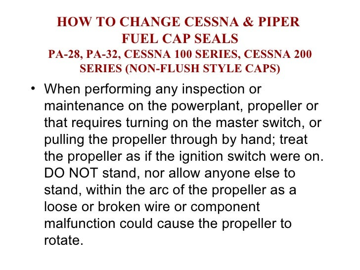 HOW TO CHANGE CESSNA & PIPER  FUEL CAP SEALS PA-28, PA-32, CESSNA 100 SERIES, CESSNA 200 SERIES (NON-FLUSH STYLE CAPS) <ul...