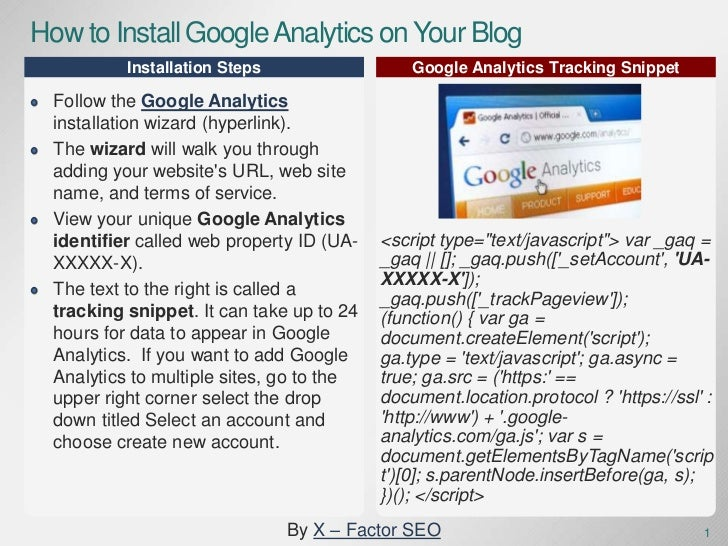 how to install google analytics tracking code on multiple