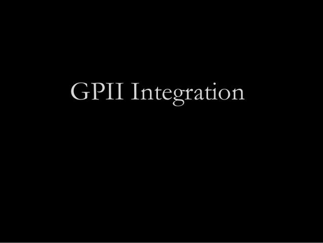 How to integrate with GPII