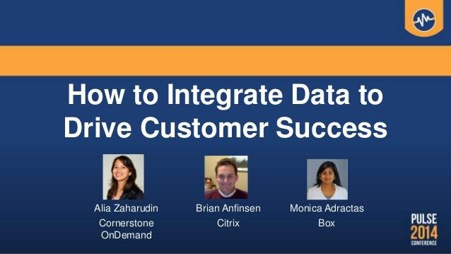How to Integrate Data to Drive Customer Success Alia Zaharudin Cornerstone OnDemand Monica Adractas Box Brian Anfinsen Cit...