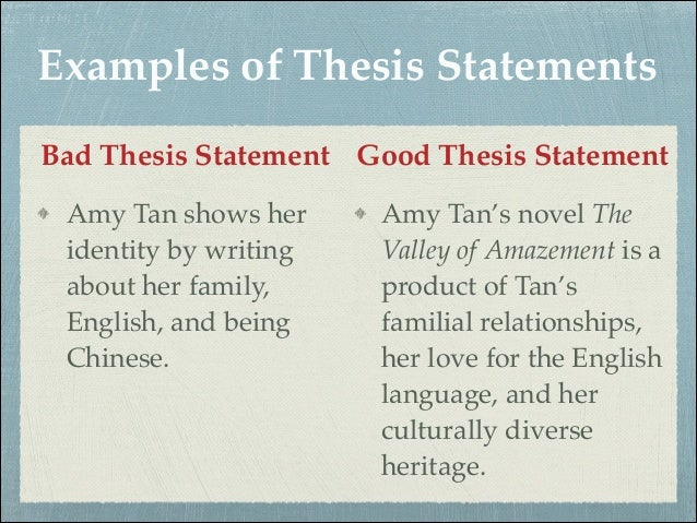 how to write a good thesis statement for an english essay