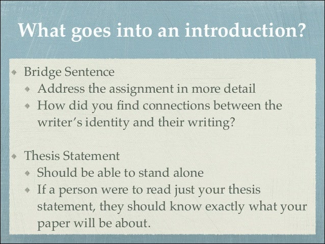 Steps to writing a good introduction paragraph