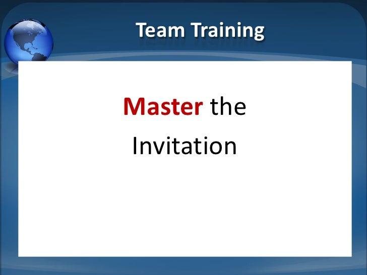 Team TrainingMaster theInvitation