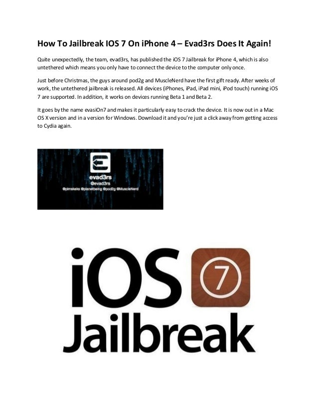iphone 4 jailbreak ios 7 evasi0n