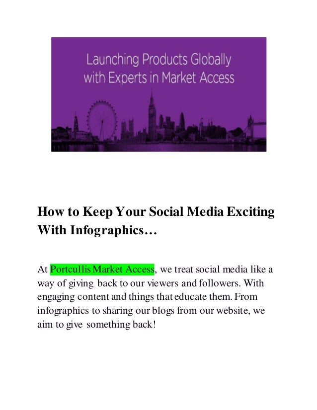 How to keep your social media exciting with infographics