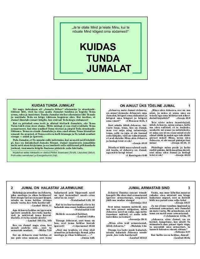 How to know god estonian