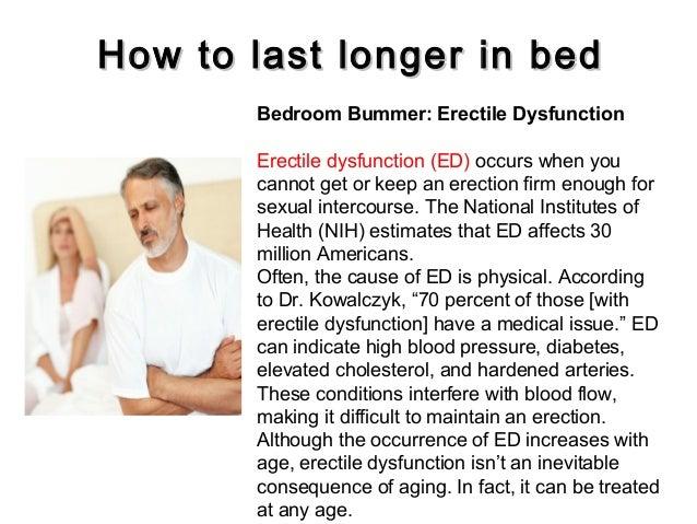 Viagra to last longer in bed