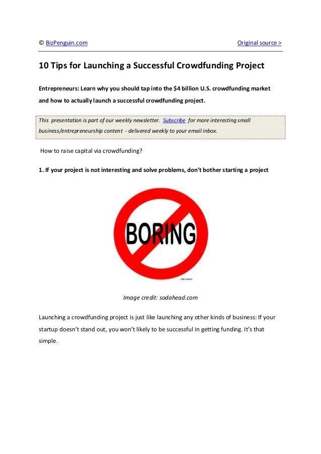 © BizPenguin.com                                                                  Original source >10 Tips for Launching a...