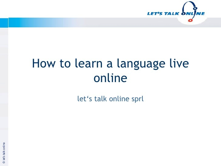 How to learn a language live online
