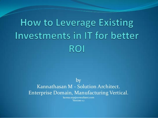 by Kannathasan M - Solution Architect. Enterprise Domain, Manufacturing Vertical. kanna.erp@consultant.com Version-1.1