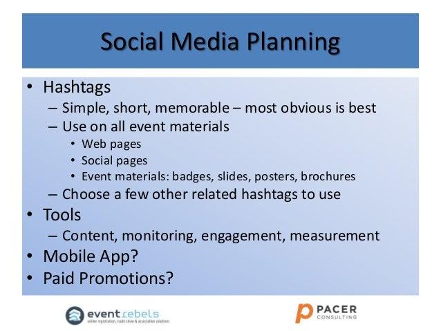 Event Social Media Plan Social Media Planning