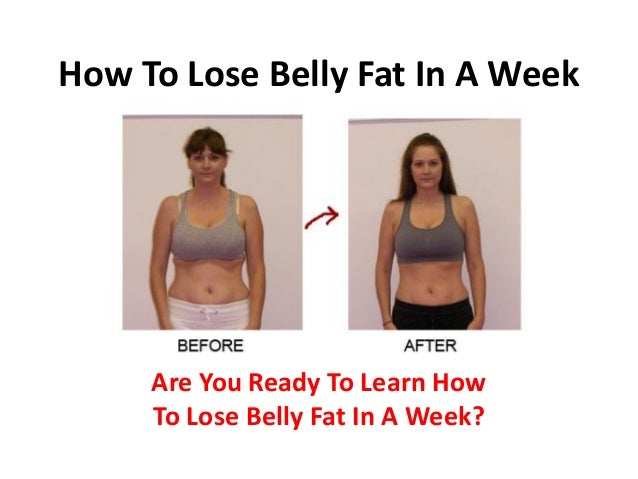 Diet to reduce belly fat in a week