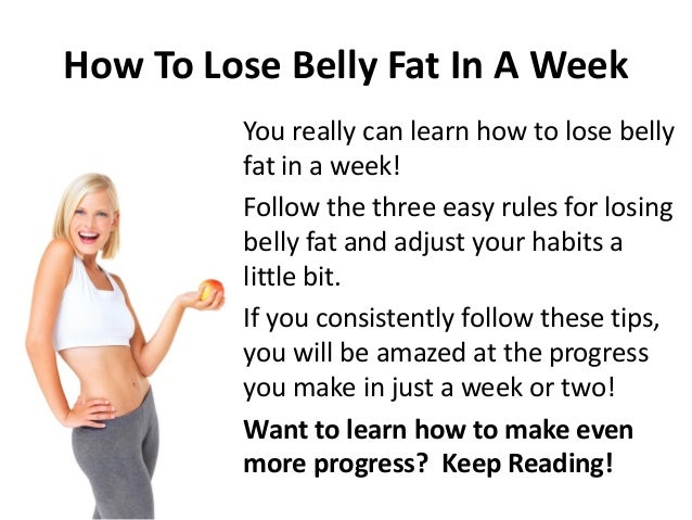 How to lose 2 pounds of belly fat in a week