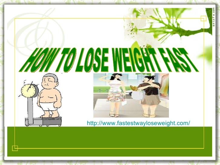 How to lose weight fast not healthy
