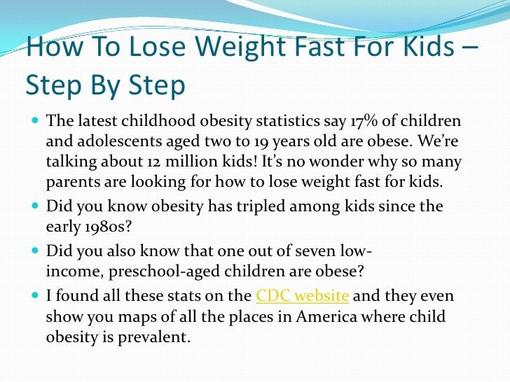 Who to lose weight in a week for kids, best diet for ...
