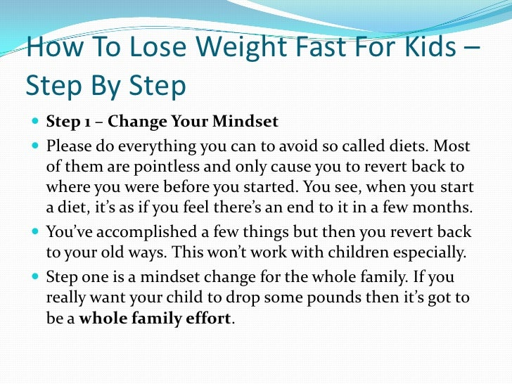 rapid weight loss in children causes