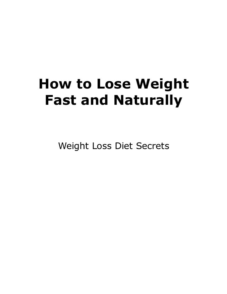 How to Lose Weight Fast and Naturally  Weight Loss Diet Secrets