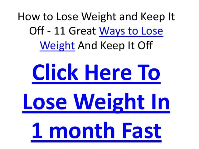 How To Lose Weight Naturally At Home In A Week