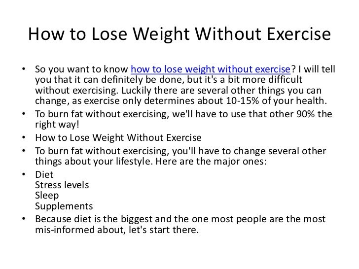 Healthy ways to lose weight without working out picture 2