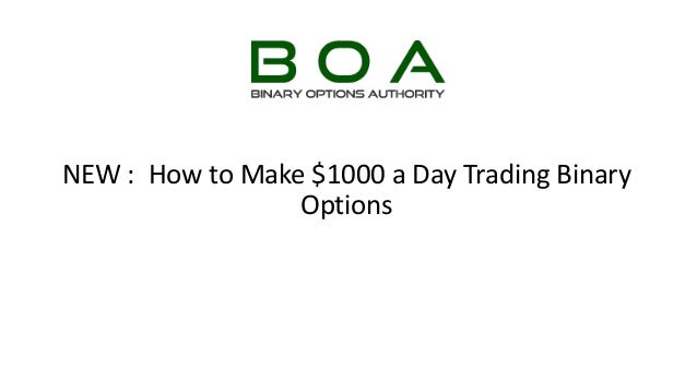 How to trade end of day binary options