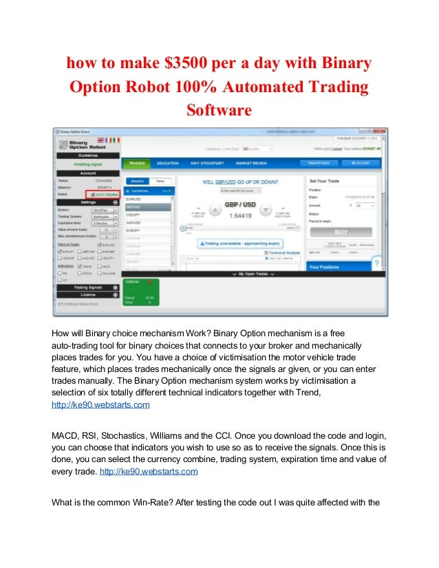 Binary option automated software