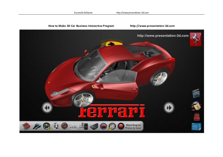 How to Make 3D Car Business Interactive Program