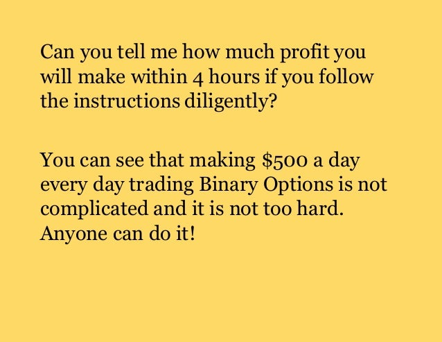 How much money can you make with binary options