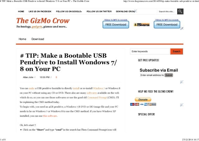 how to install windows on usb pen drive