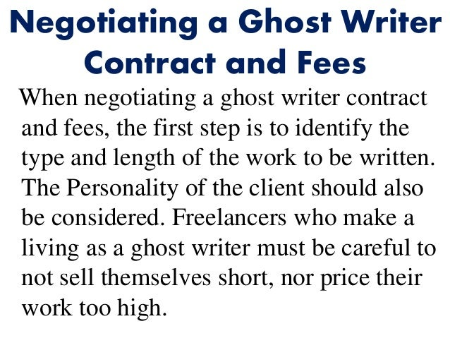 Ghostwriter Contract