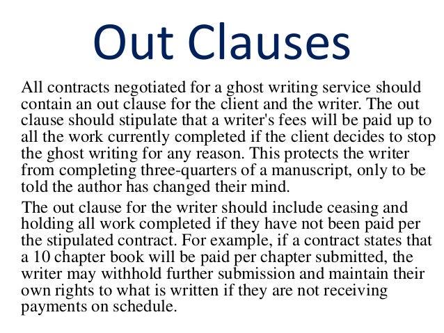 Ghostwriter agreement