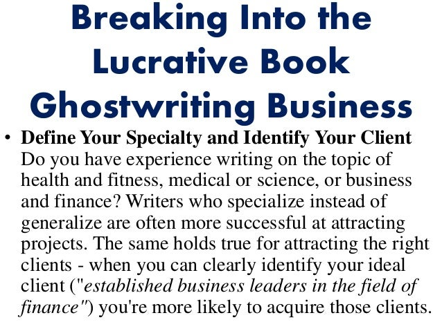 Ghostwriting books