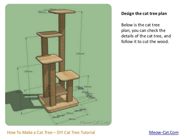 How to make a cat tree with solid wood for How to make a cat tower
