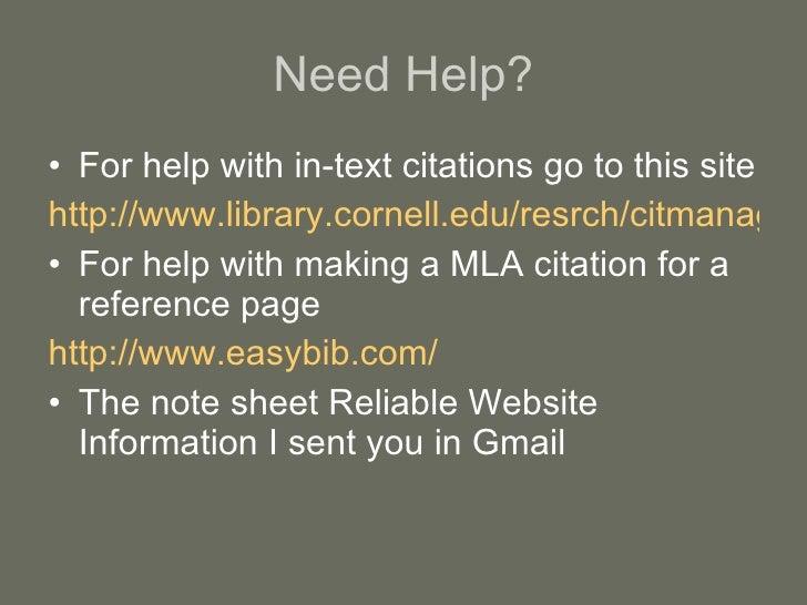 Need help with MLA citation?