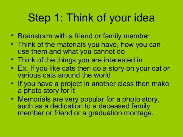 How to do a story